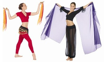 belly dance sashes and veils