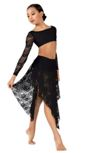body wrappers lc1113 child convertible high-low lace dance skirt