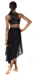 body wrappers lc1112 child high-low lace skirt
