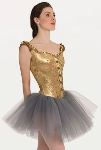 body wrappers p9000 adult tutu with metallic panne velvet corset