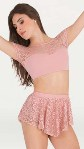 body wrappers p1104 tiler peck romantic lace skirt
