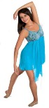 body wrappers 7560 turquoise camisole dress