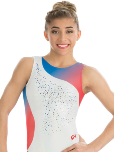 gk elite 3763 enduring freedom gymnastics tank leotard