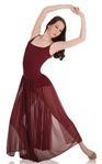 body wrappers 7990 camisole long dance dress